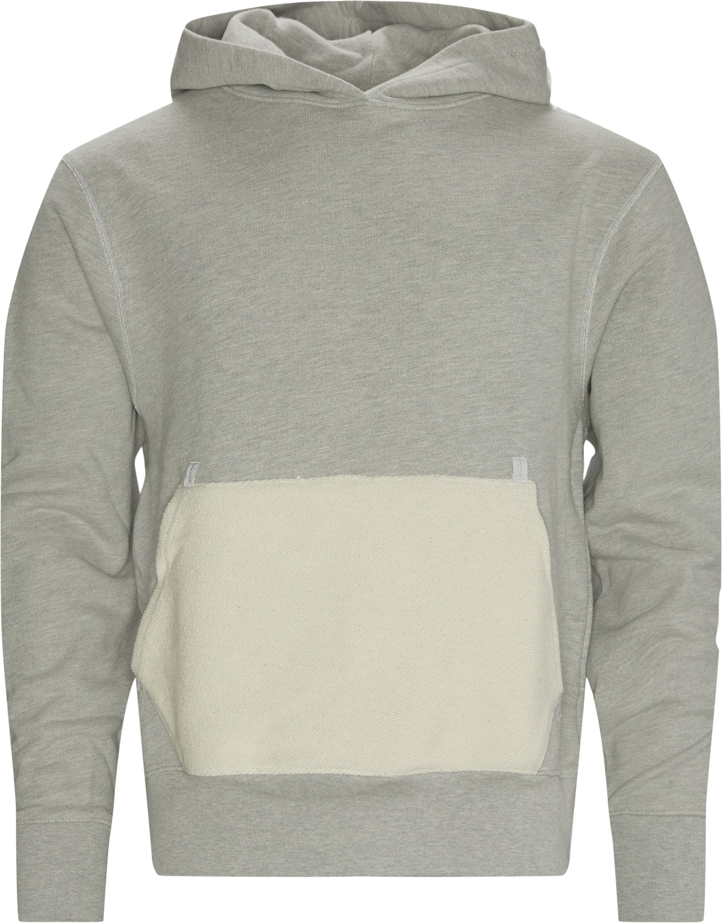 Terry Reversible Hoodie - Sweatshirts - Regular - Grå